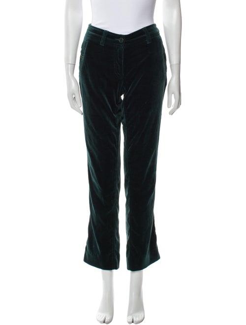 Etro Straight Leg Pants Green