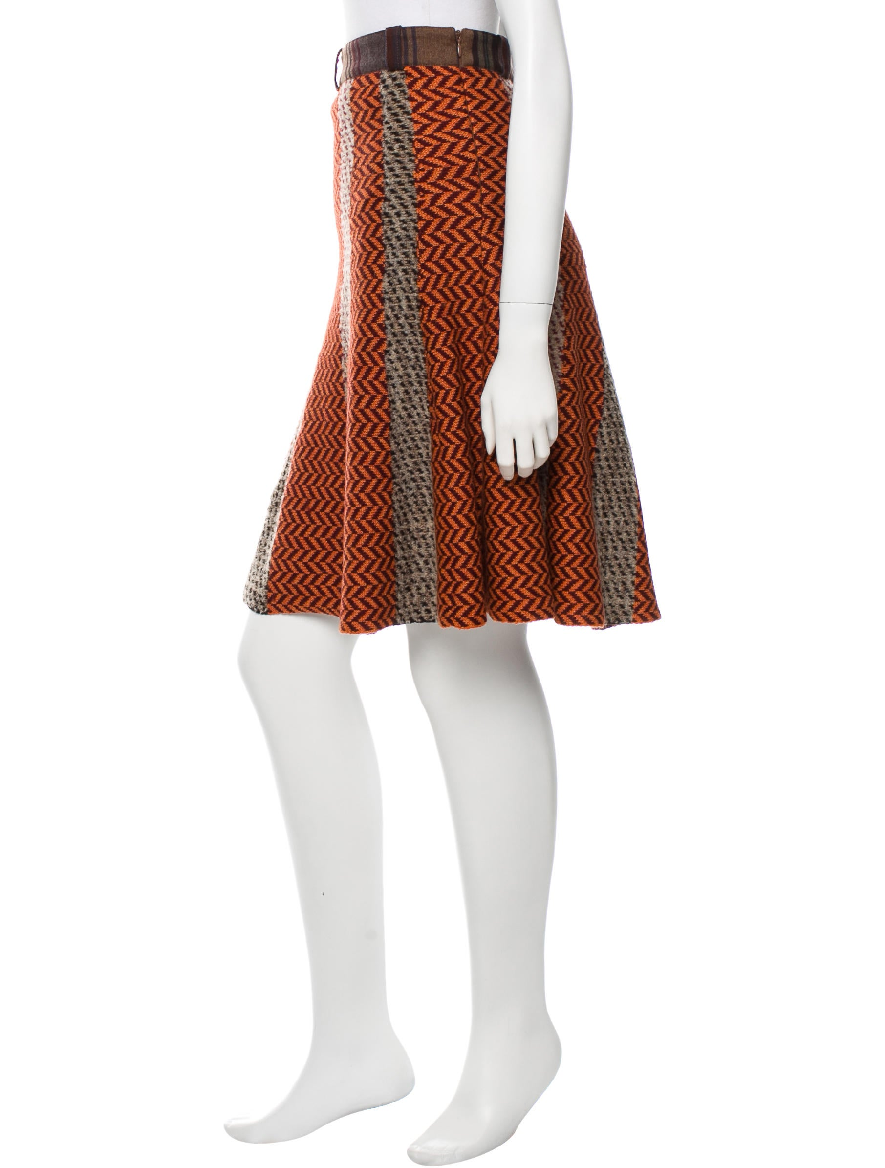 etro patterned wool a line skirt clothing etr32925