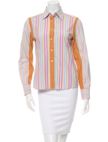 Etro Stripe Button-Up Top None