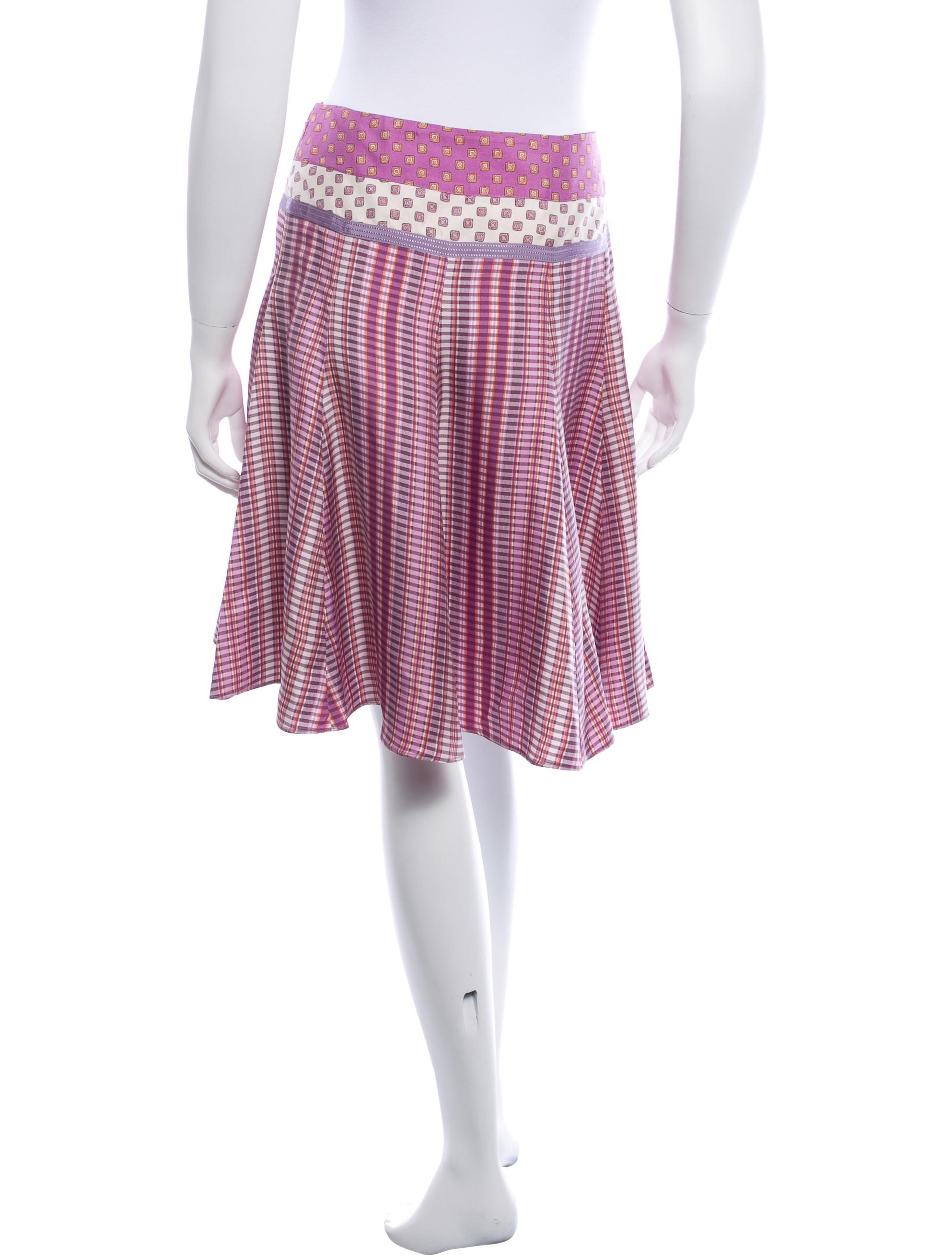 etro silk midi skirt clothing etr34573 the realreal