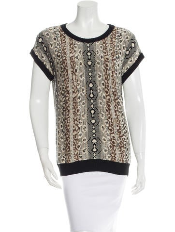 Etro Patterned Knit Top None