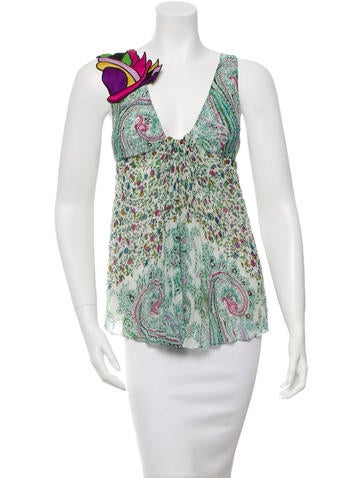Etro Sleeveless Printed Top None