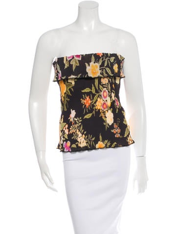 Etro Floral Print Stapless Top w/ Tags