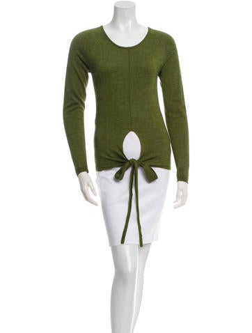 Etro Tie-Accent Cashmere Sweater None