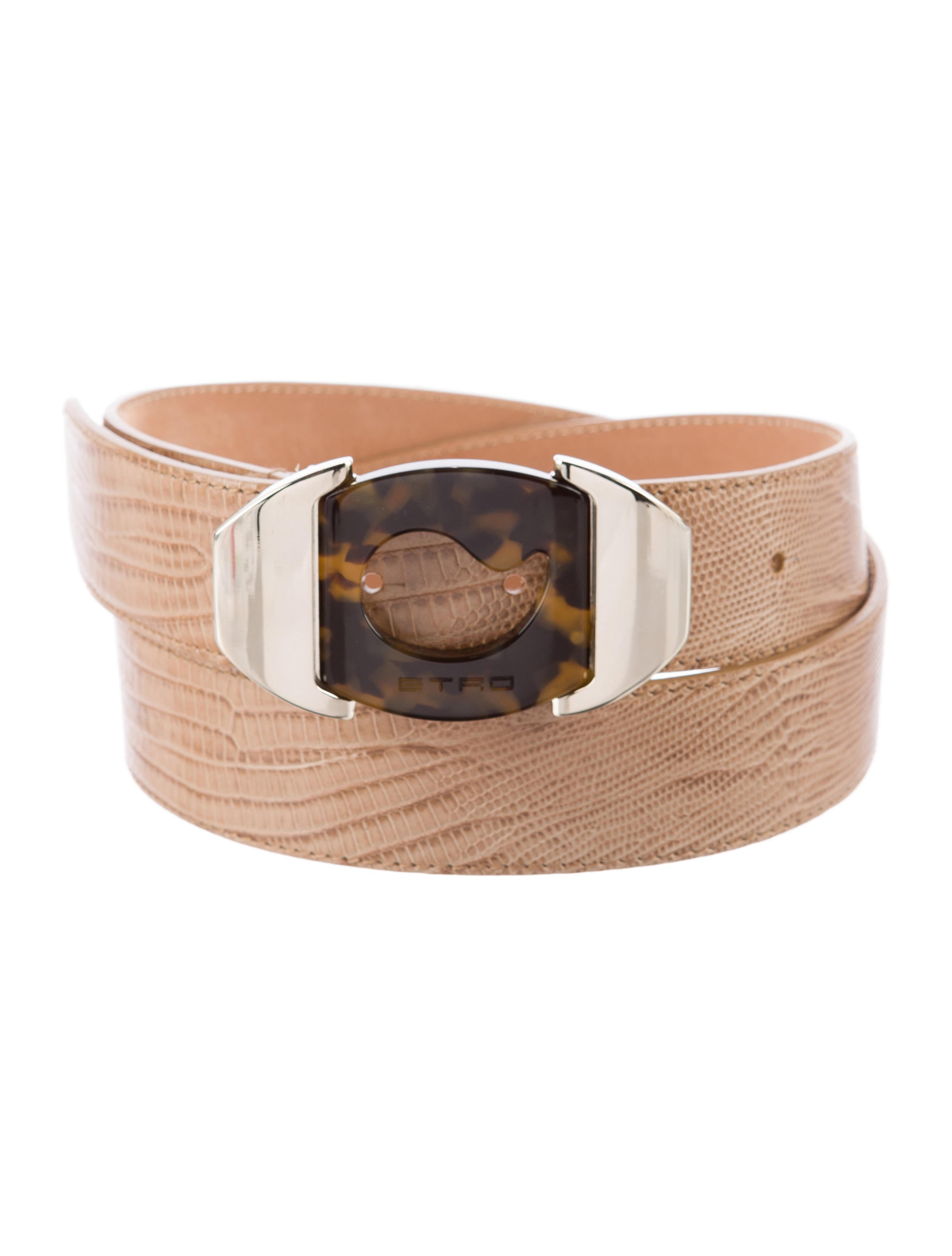 etro embossed leather belt accessories etr39077 the