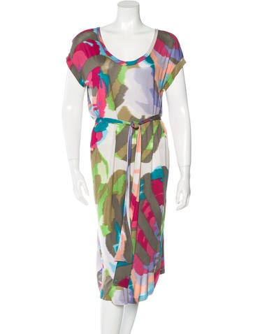 Etro Abstract Print Belted Dress