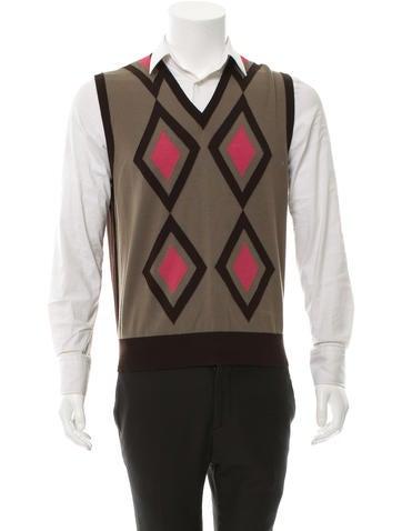 Etro Diamond Pattern Wool Vest w/ Tags None
