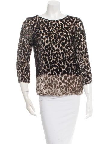 Etro Cheetah Print Textured Top None
