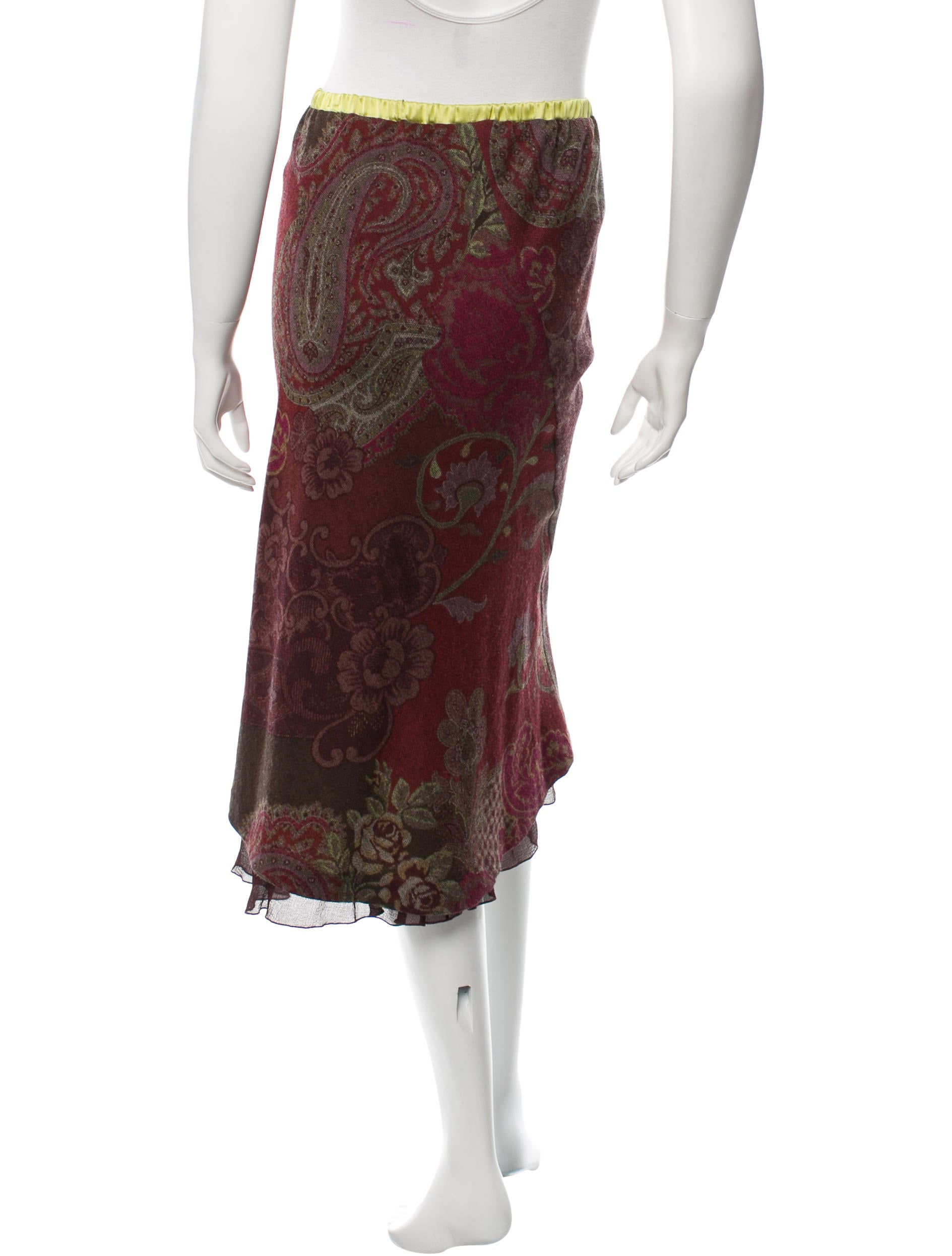 etro floral pattern midi skirt clothing etr39870 the