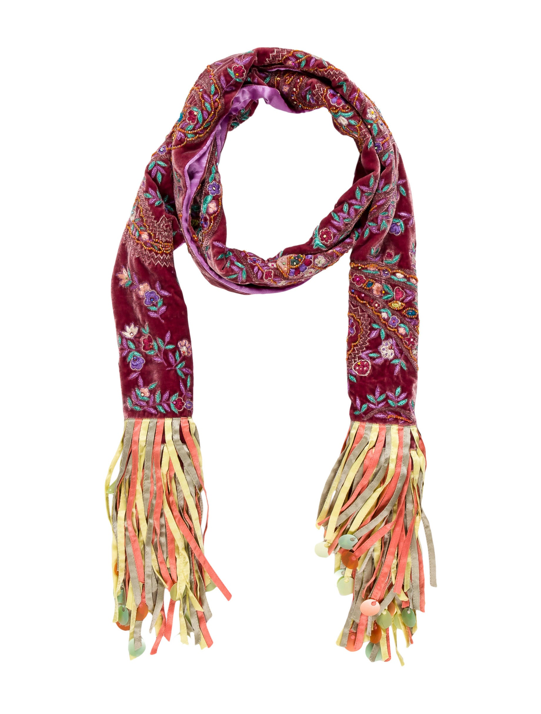 etro embellished fringe scarf accessories etr39932