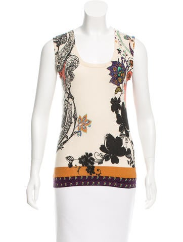 Etro Printed Sleeveless Top None