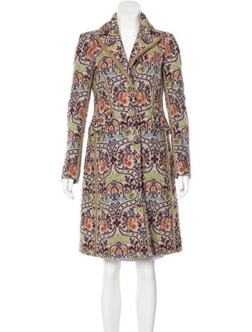 Etro Paisley Tweed Coat