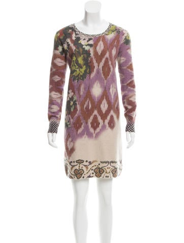 Etro Wool & Cashmere-Blend Dress None