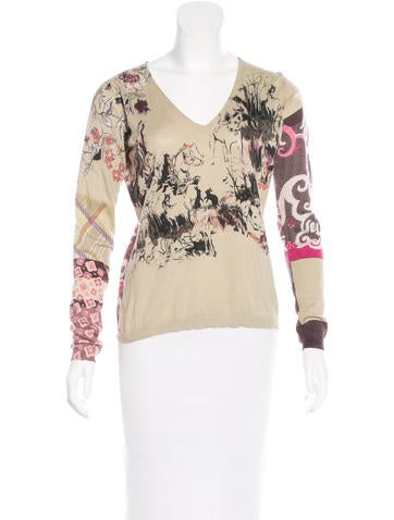 Etro Silk & Cashmere-Blend Top None