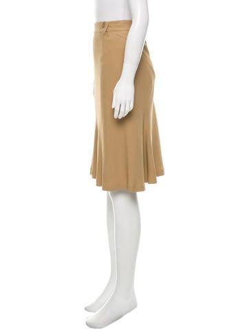 etro khaki knee length skirt clothing etr40744 the