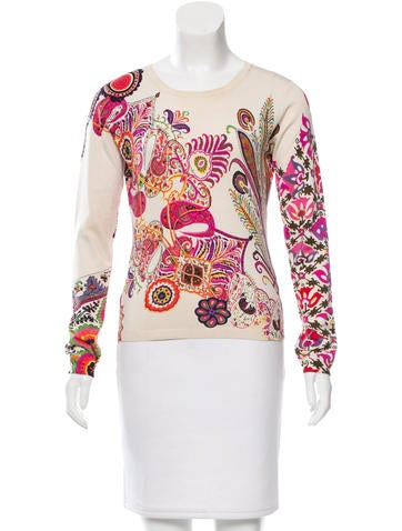 Etro Printed Silk Sweater None