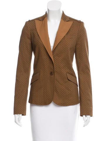 Etro Peak-Lapel Embroidered Blazer