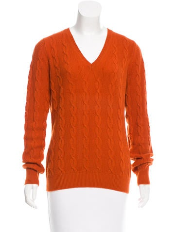 Etro Cable Knit V-Neck Sweater None