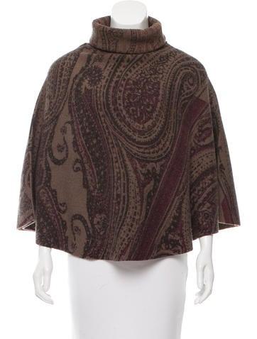 Etro Printed Wool Poncho None