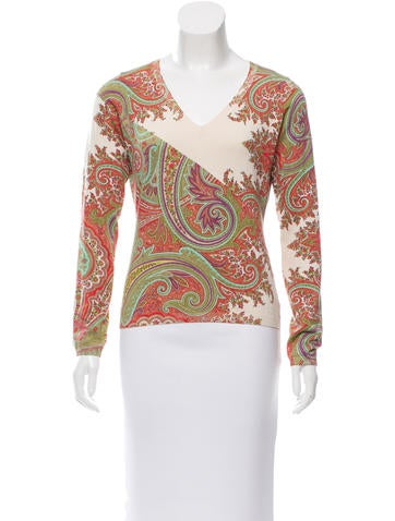 Etro Paisley Silk Sweater None