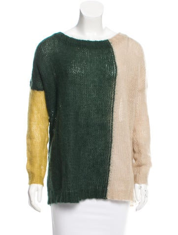 Etro Colorblock Mohair Sweater None