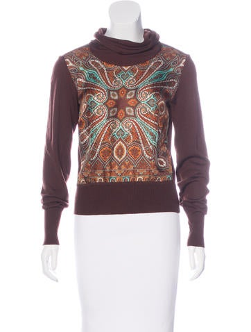 Etro Wool Long Sleeve Sweater None