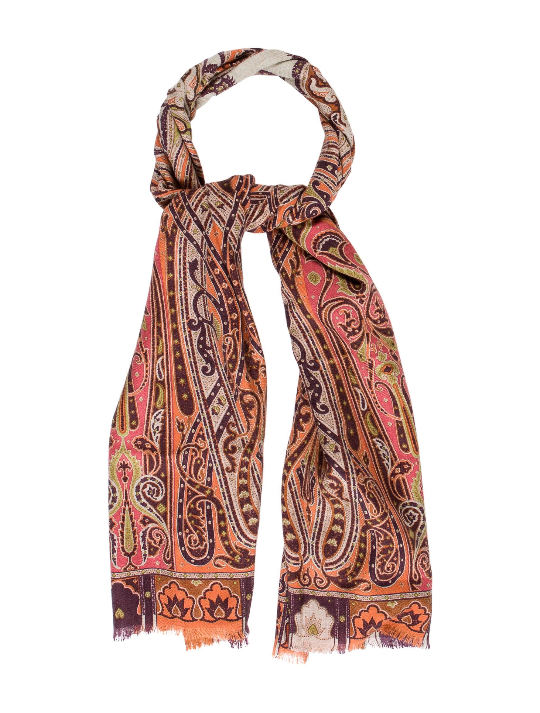 etro silk blend paisley scarf accessories