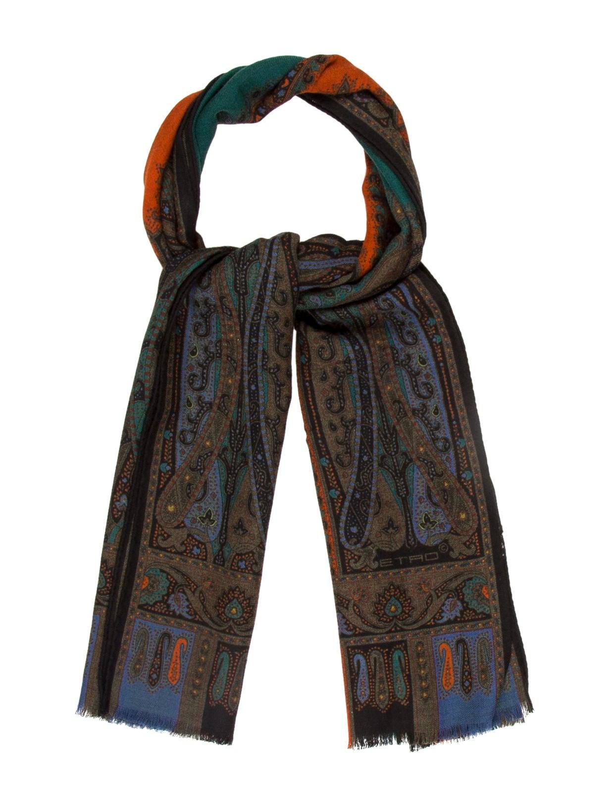etro wool silk blend scarf accessories etr43578