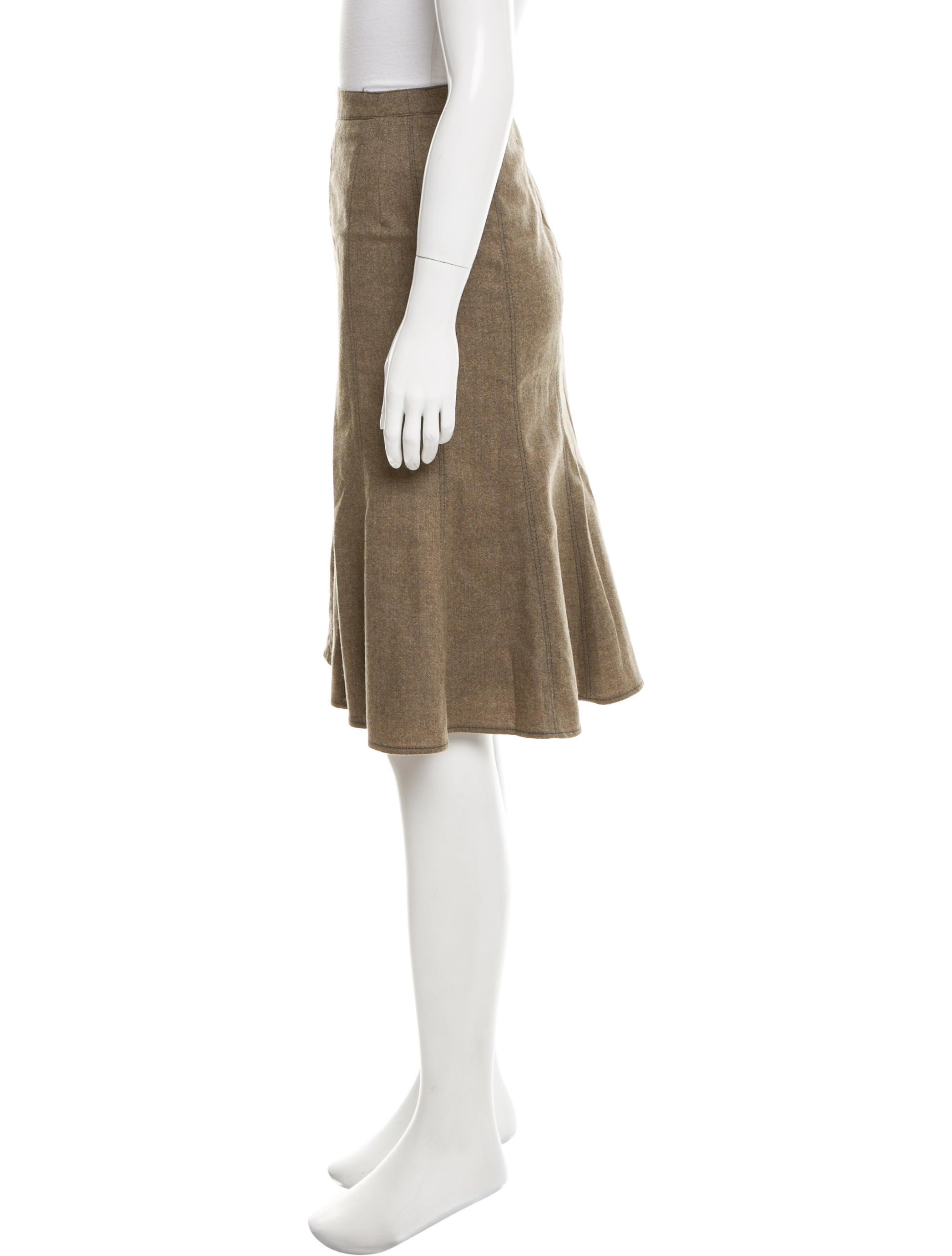 etro wool knee length skirt clothing etr43586 the