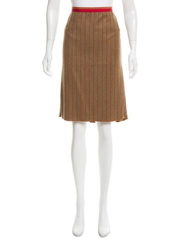 Etro Wool & Cashmere-Blend Skirt None