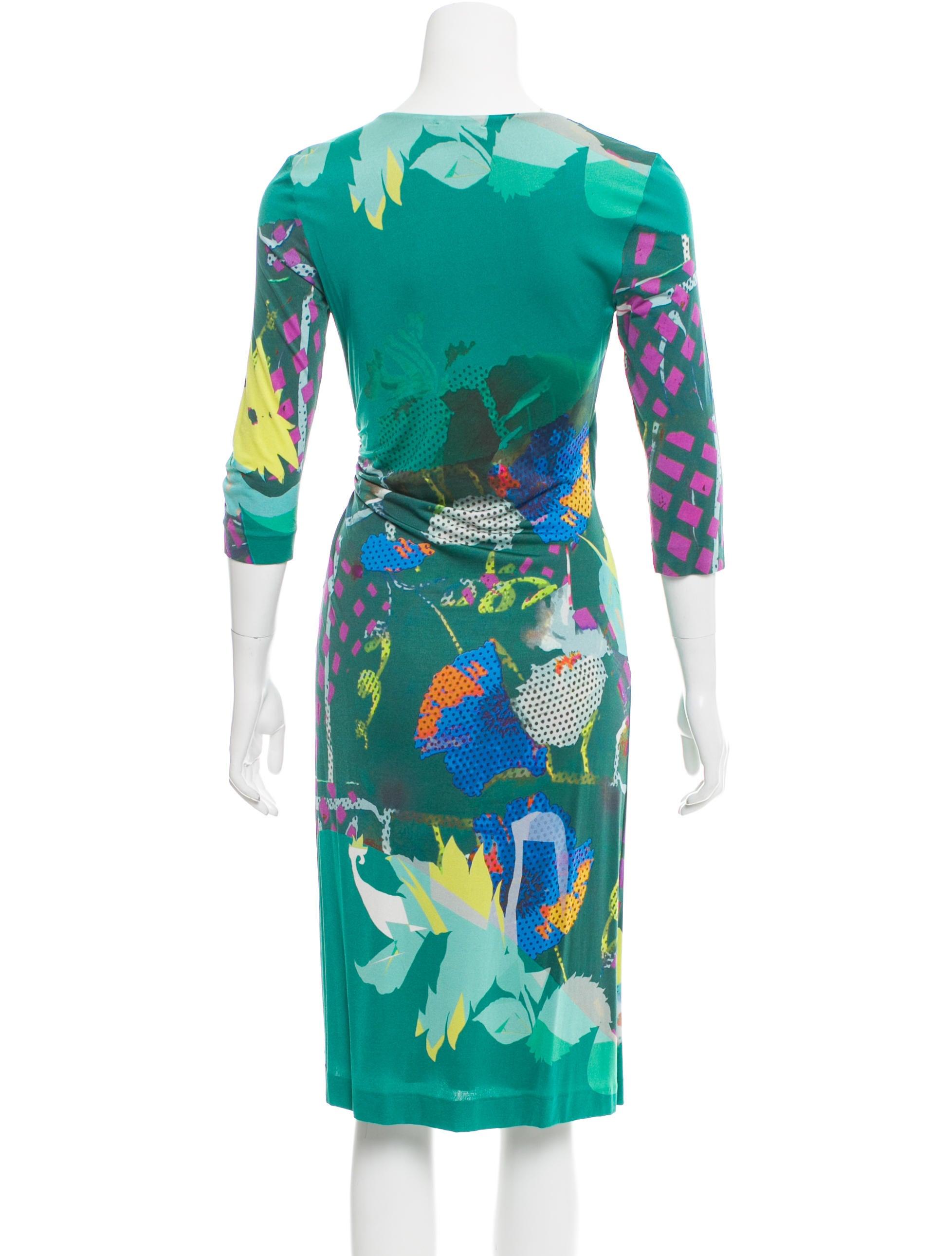 Etro Abstract Print Midi Dress Clothing Etr43702 The