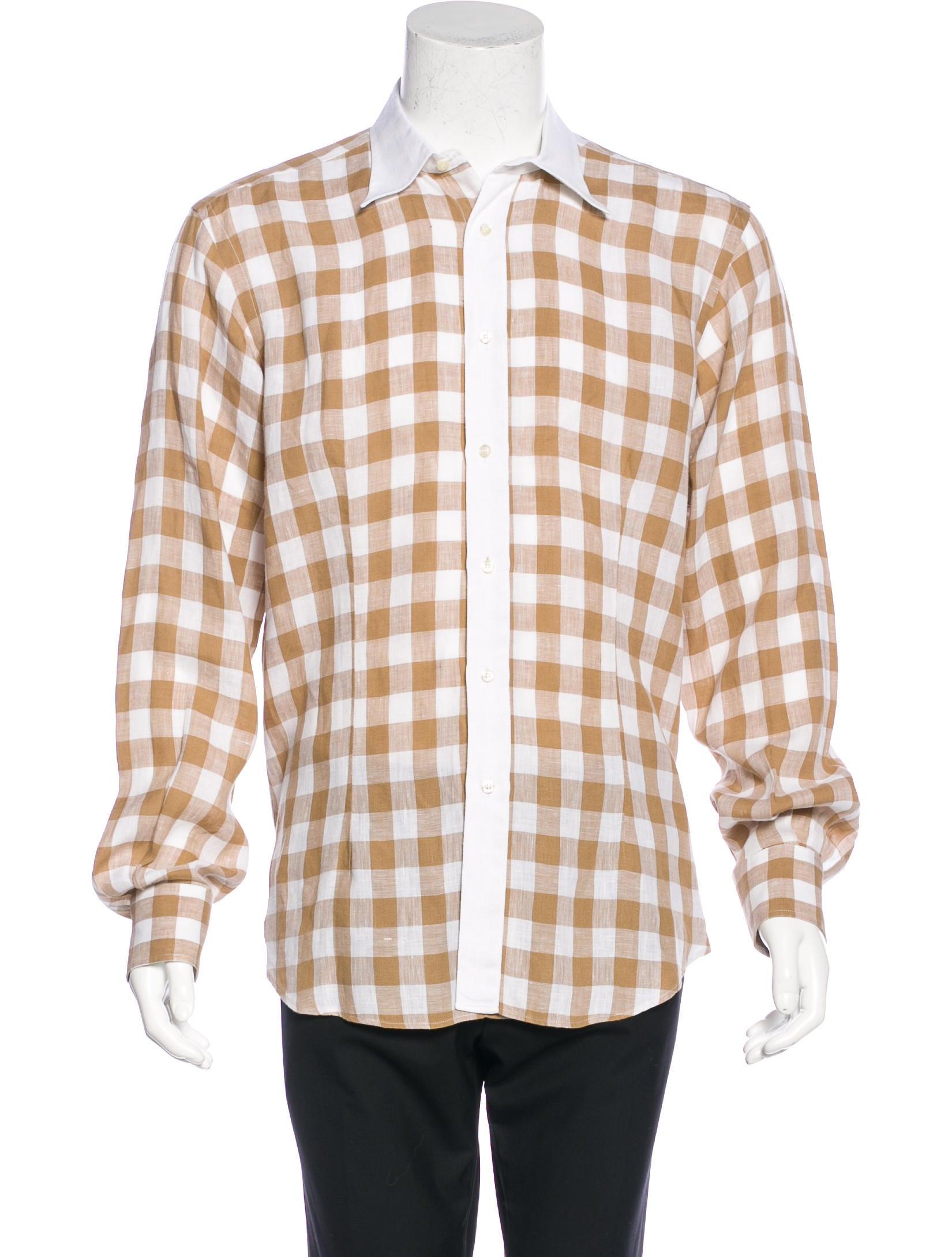 Etro linen gingham shirt mens shirts etr43842 the for Etro men s shirts