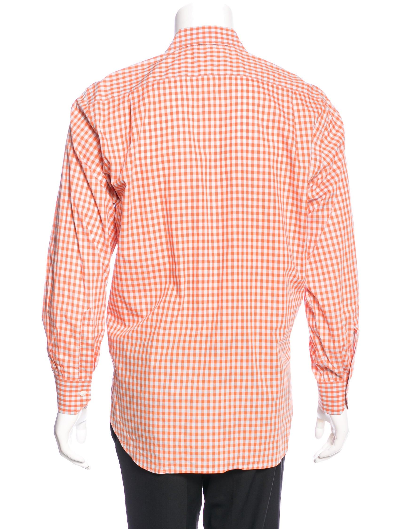 Etro gingham dress shirt clothing etr43907 the realreal for Gingham dress shirt men