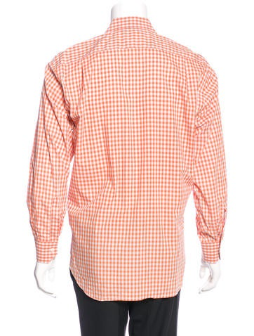Etro Gingham Dress Shirt Clothing Etr43907 The Realreal