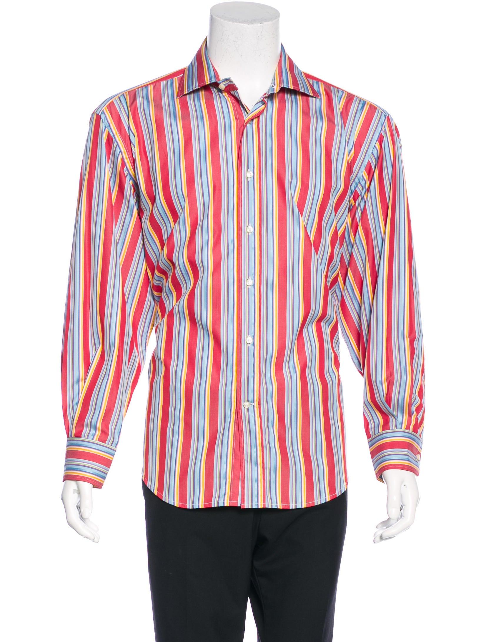 Etro striped woven shirt mens shirts etr44011 the for Etro men s shirts
