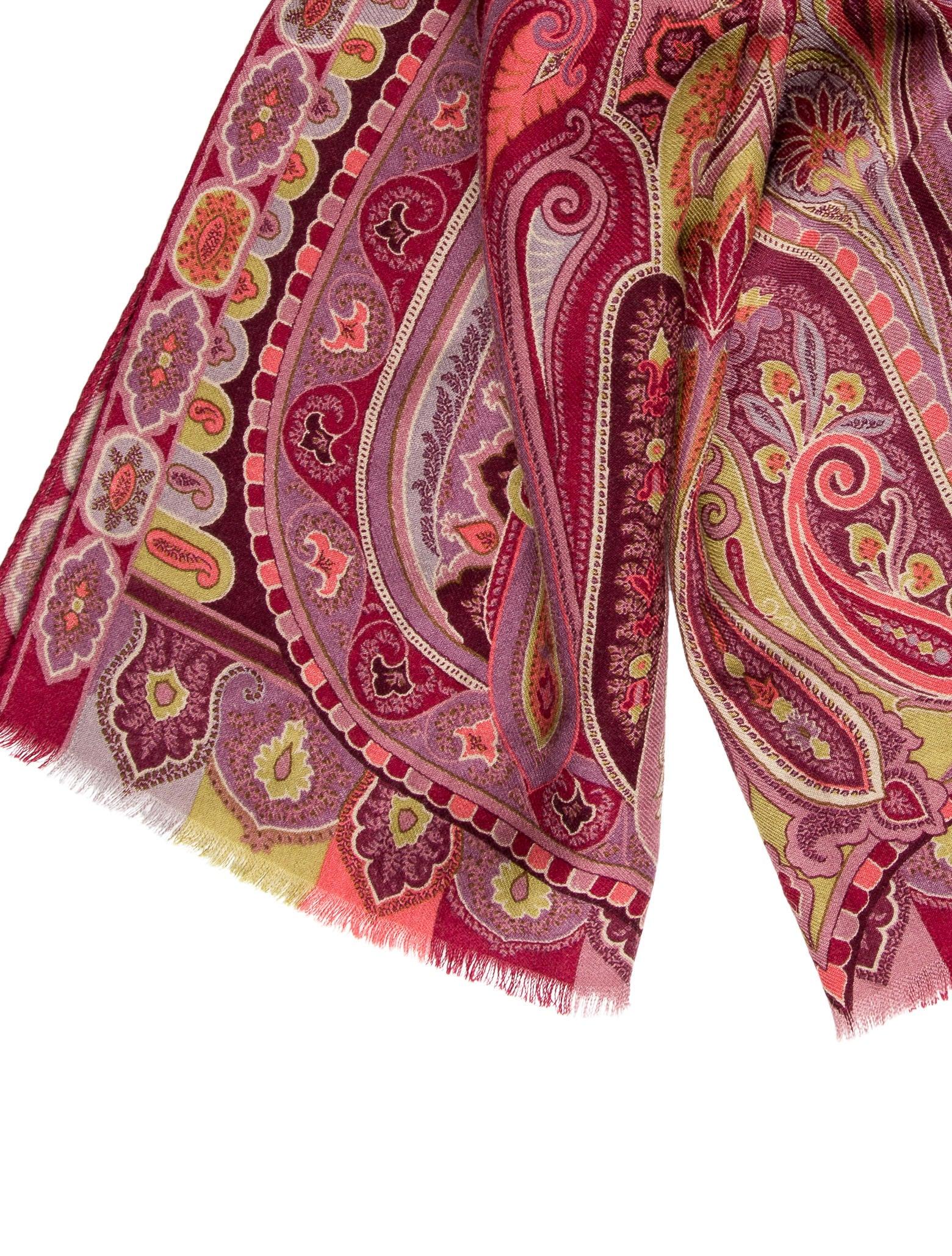 etro wool silk paisley scarf accessories etr44061