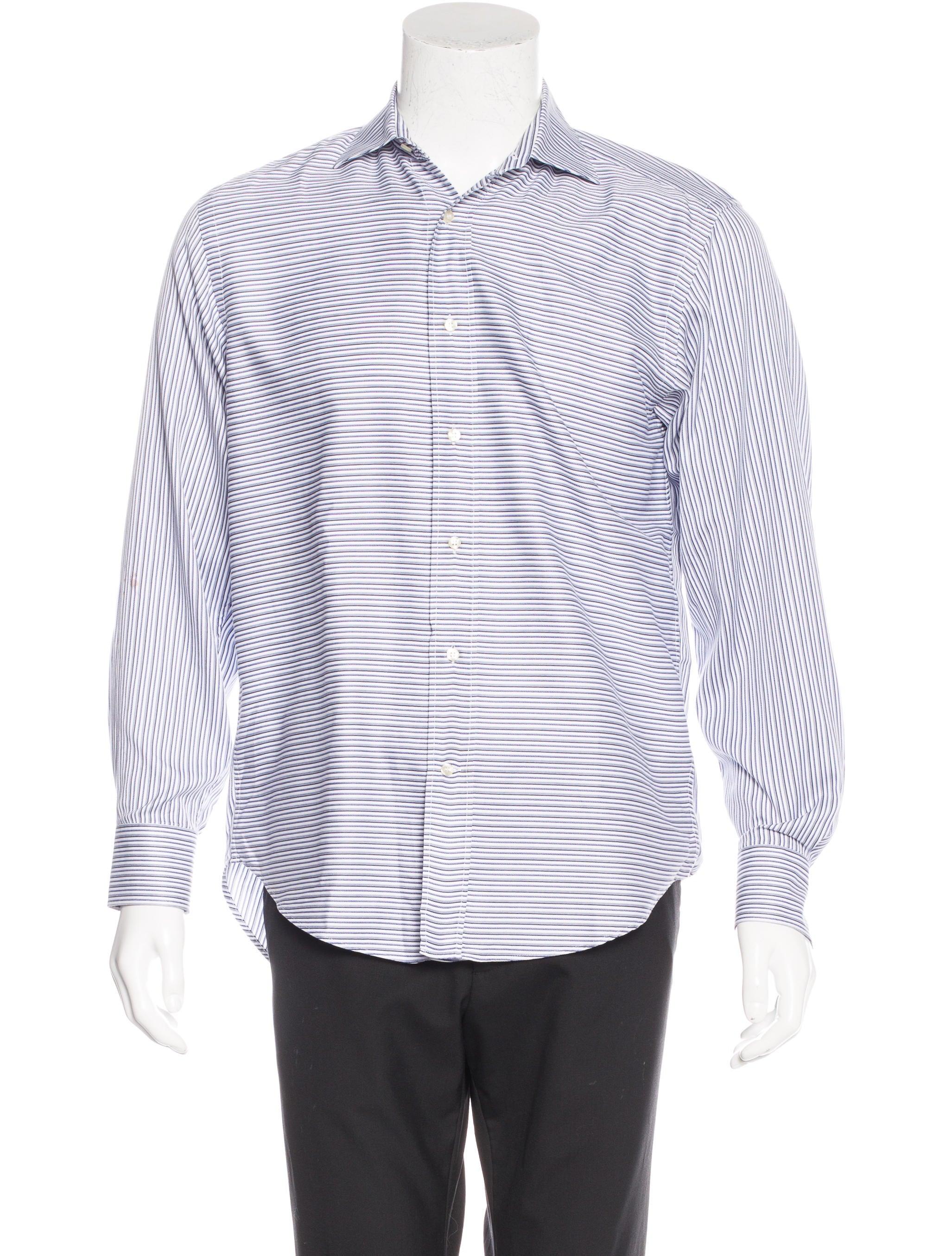 Etro striped dress shirt mens shirts etr44118 the for Etro men s shirts