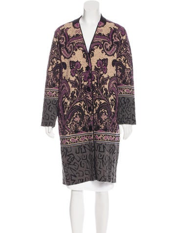 Etro Patterned Knit Cardigan None