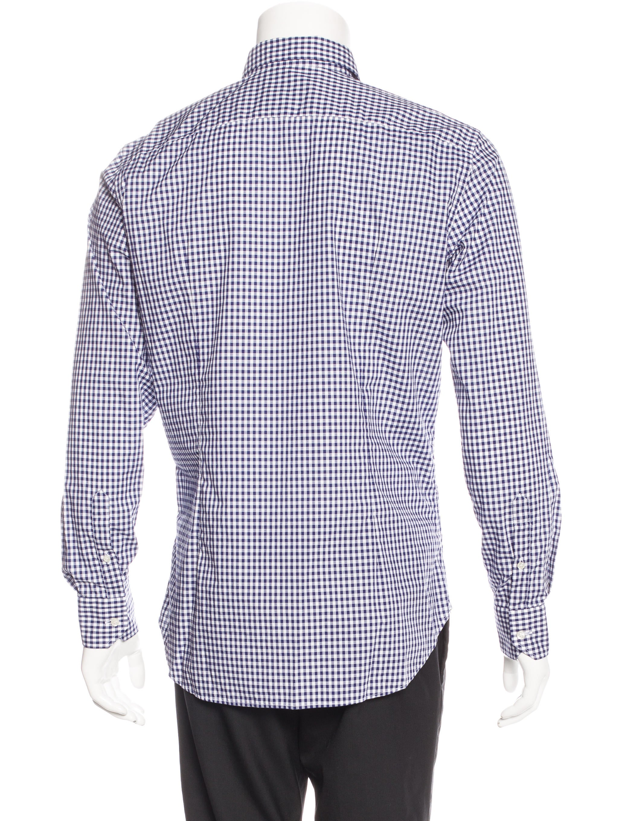 Etro gingham dress shirt clothing etr44634 the realreal for Men s red gingham dress shirt