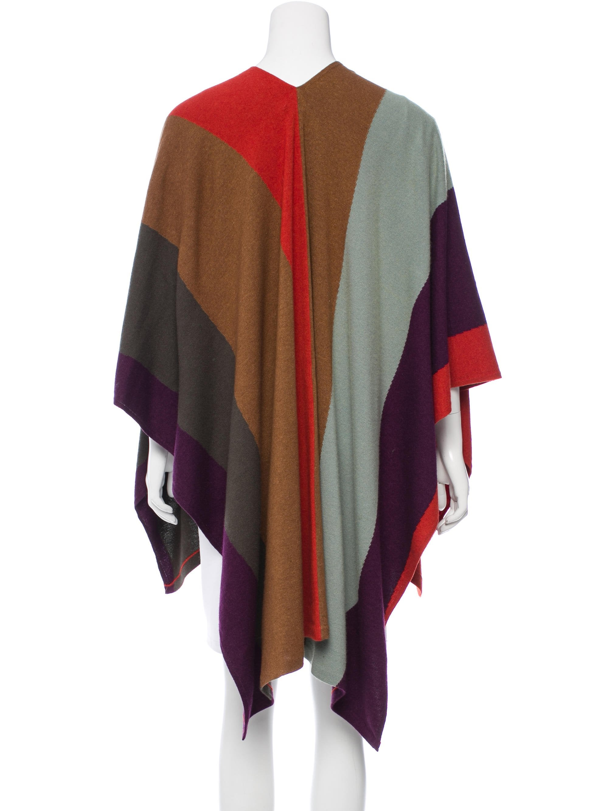Book Cover Pattern Wool Cashmere Poncho : Etro patterned wool blend poncho clothing etr