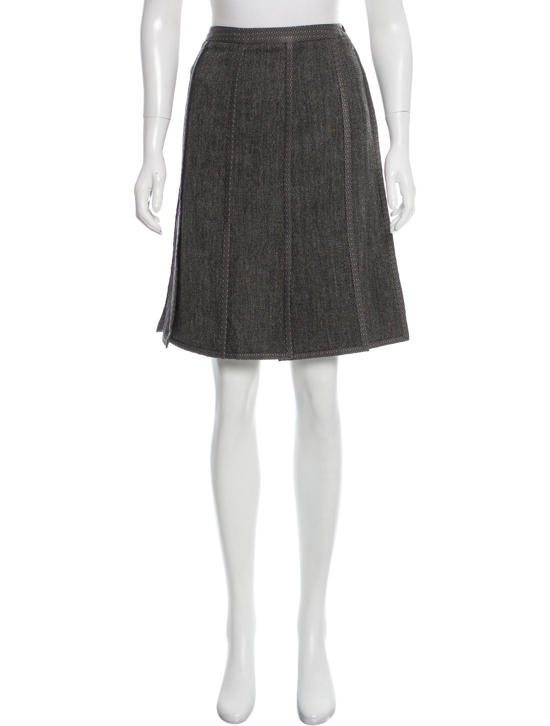 etro wool knee length skirt clothing etr45329 the