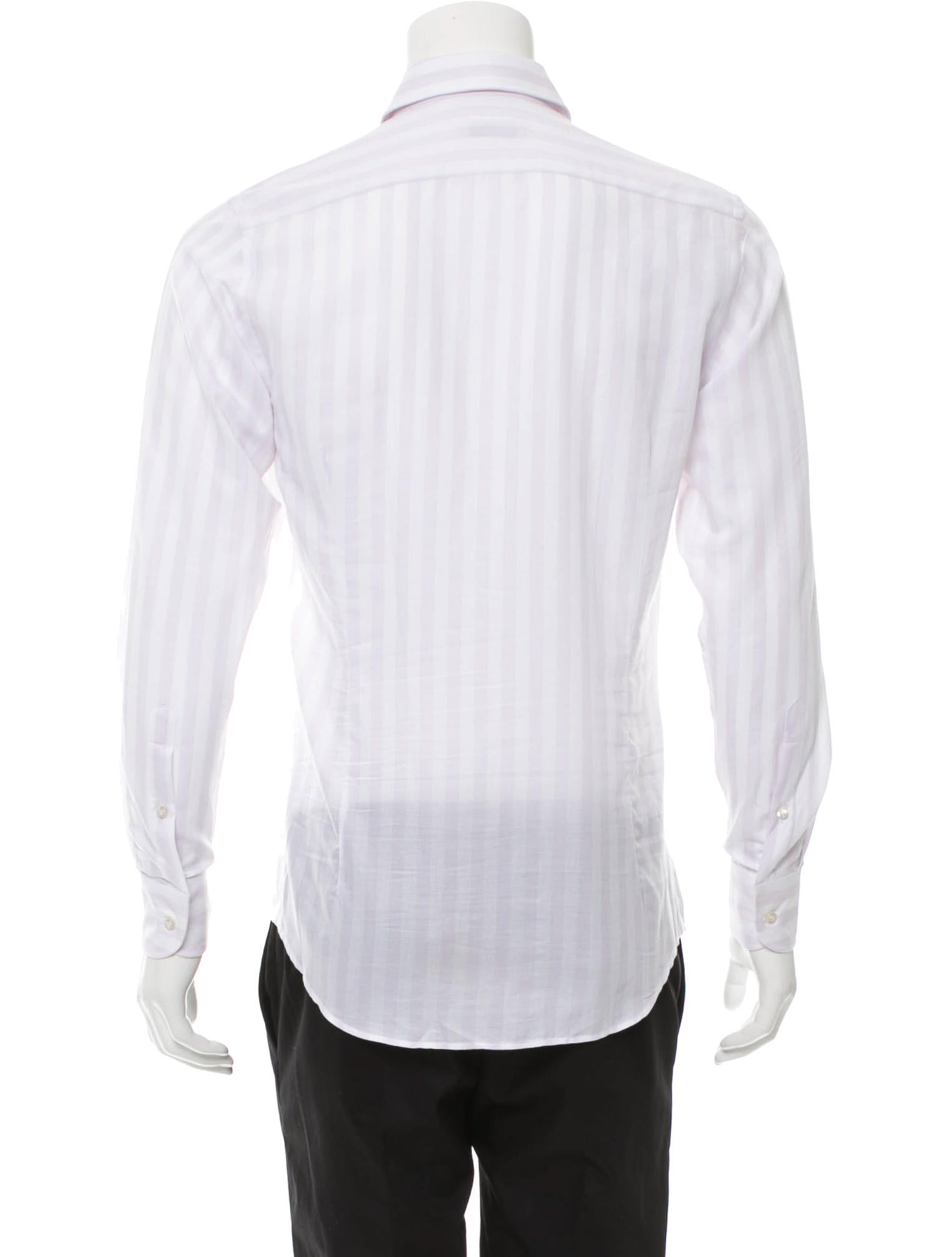 Etro striped button up shirt clothing etr45429 the for Striped button up shirt mens