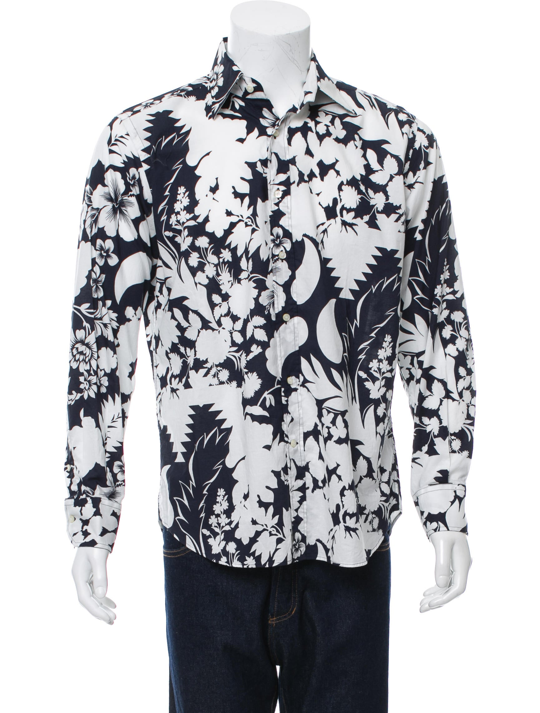 Etro floral print button up shirt clothing etr45583 for Floral print button up shirt