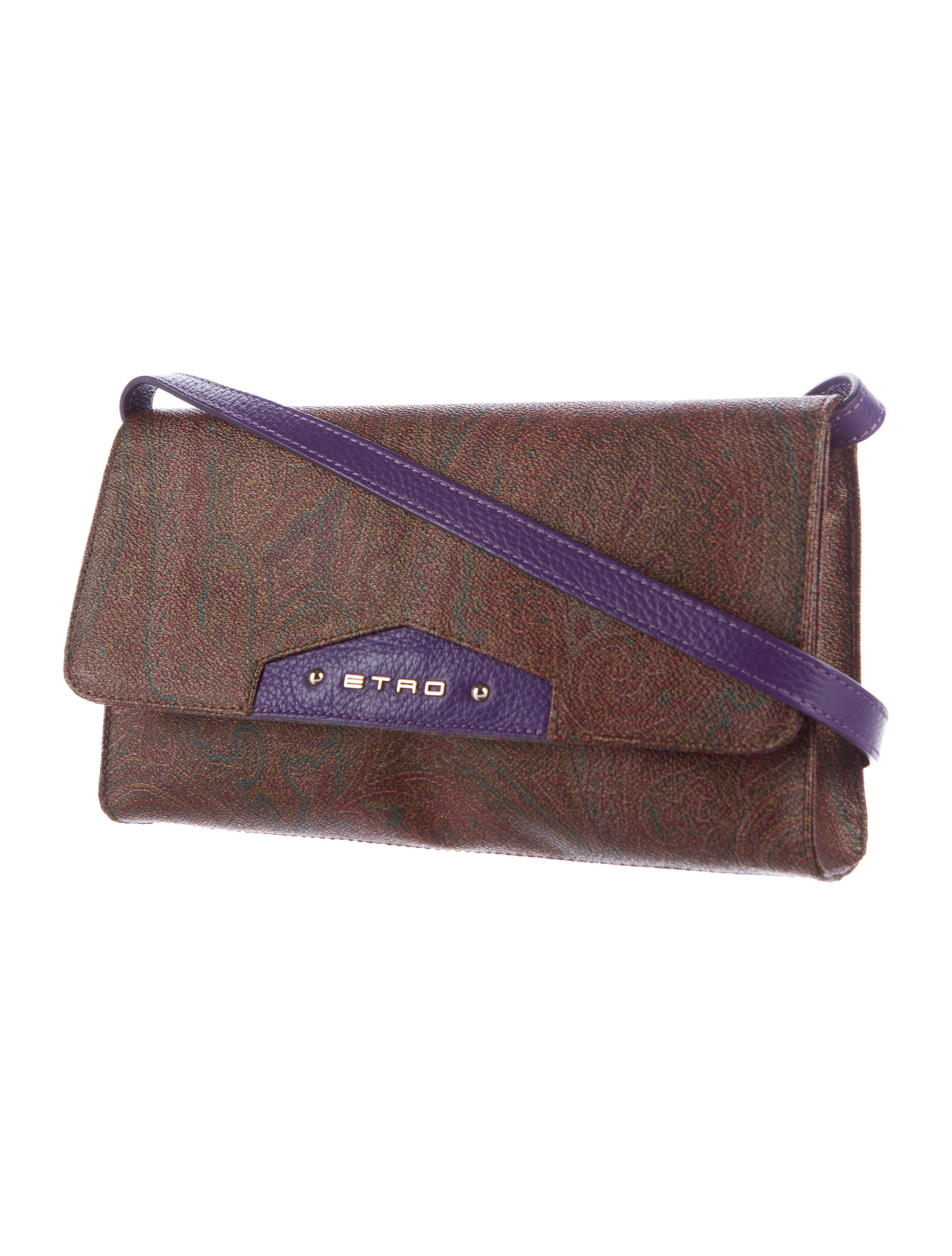 Etro Leather-Trimmed Paisley Crossbody - Handbags ...