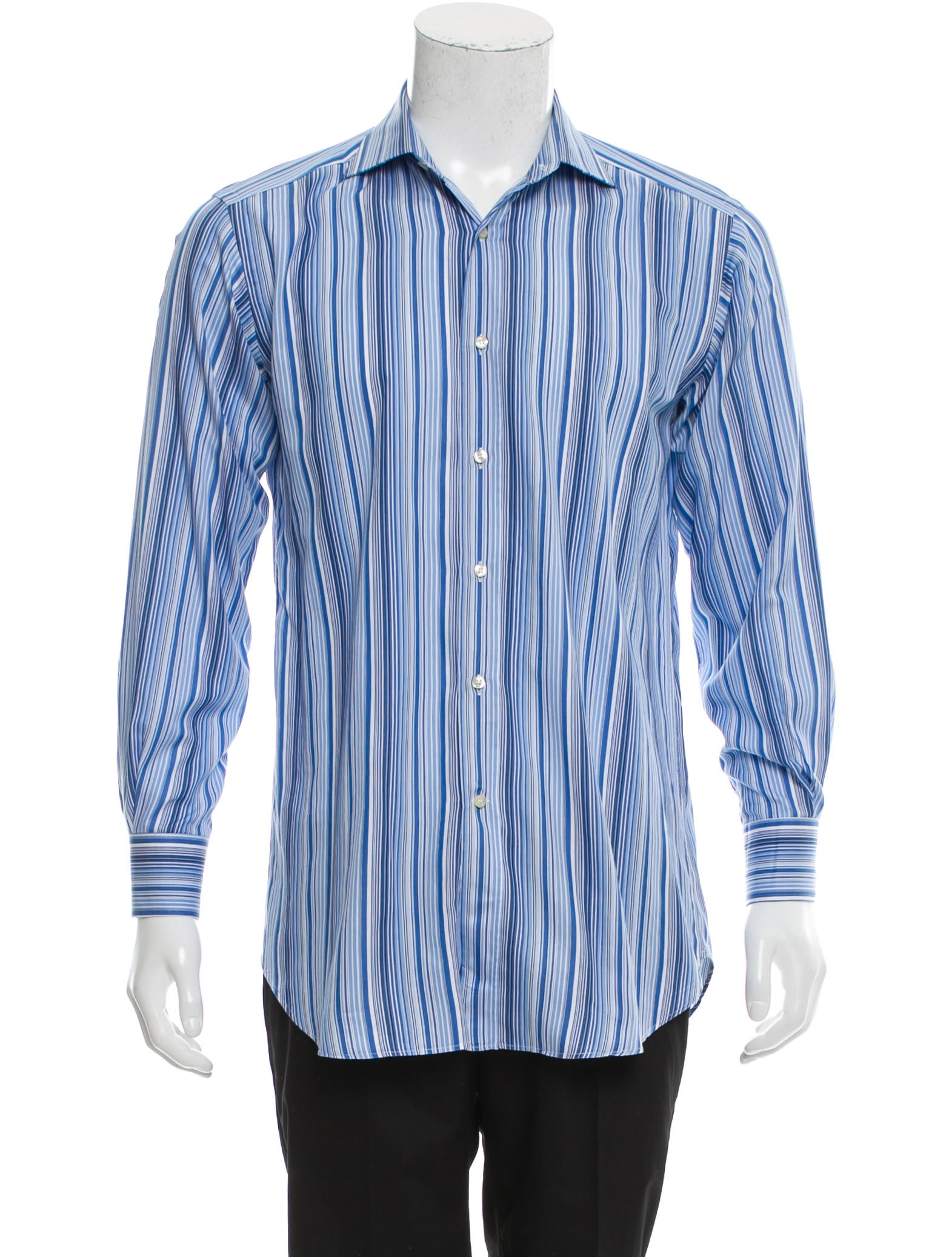 Etro Striped Button Up Shirt Clothing Etr45768 The