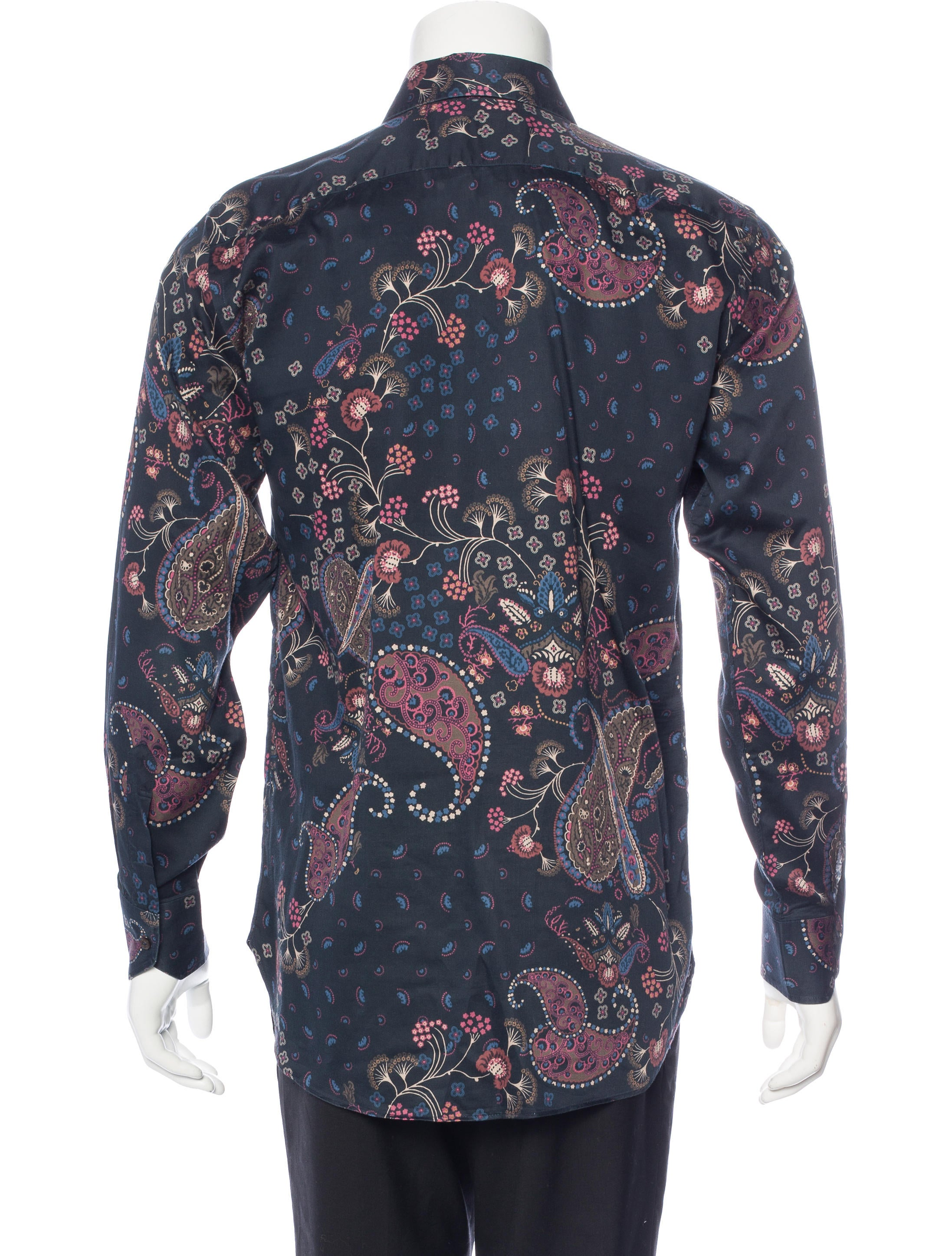 Etro paisley print shirt clothing etr45870 the realreal for Etro men s shirts