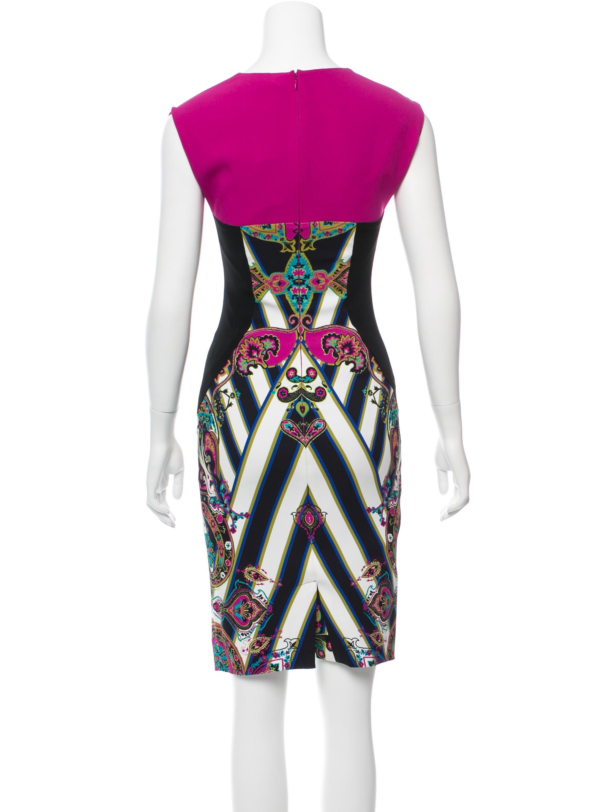 Etro Digital Print Knee-Length Dress w/ Tags - Clothing ...