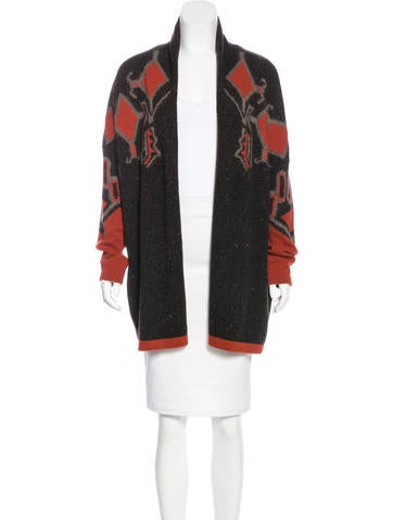 Etro Wool Open Front Cardigan None