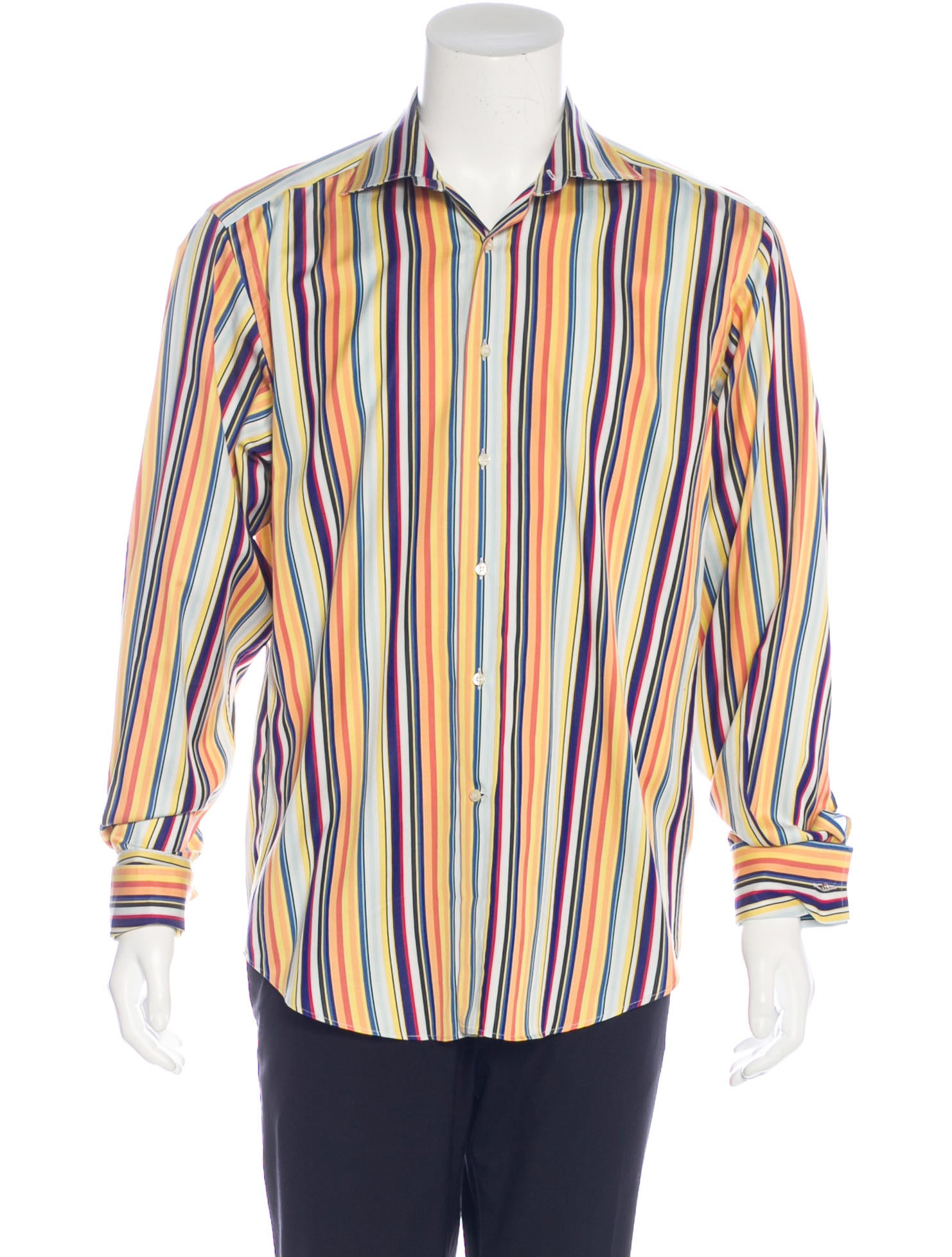 Etro striped french cuff shirt clothing etr46617 the for What is a french cuff shirt