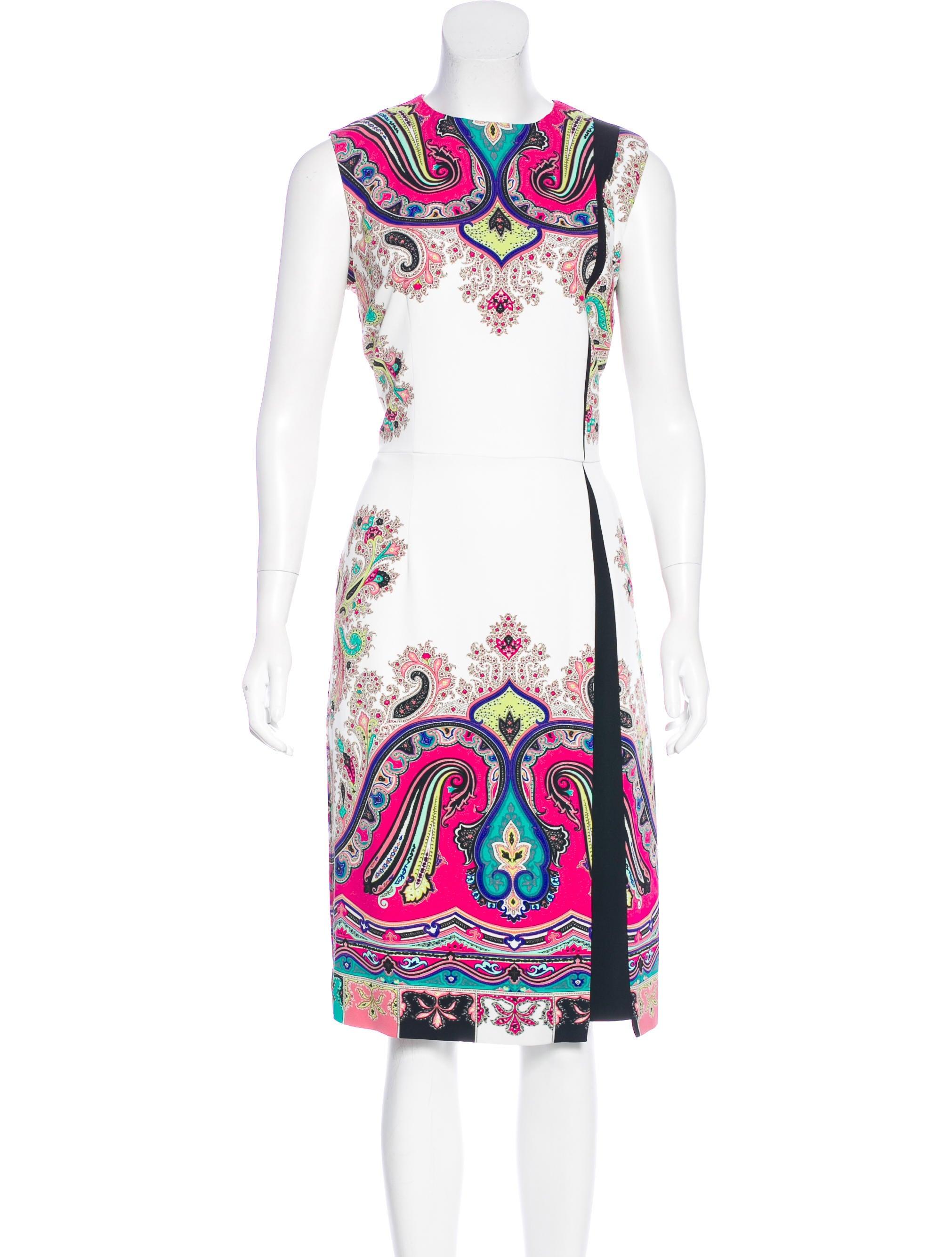 Etro Paisley Print Midi Dress Clothing Etr46827 The